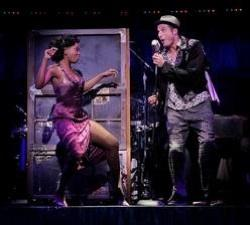 """Felicia Boswell (Felicia) & Bryan Fenkart (Huey) in the National Tour of """"Memphis"""""""