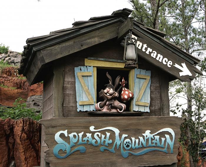 "The character Brer Rabbit, from the movie, ""Song of the South,"" is depicted near the entrance to the Splash Mountain ride in the Magic Kingdom at Walt Disney World in Lake Buena Vista, Fla."