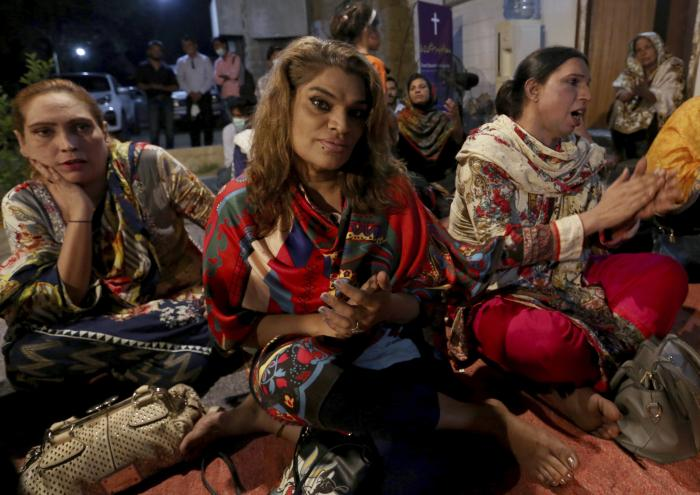 Transgender people attend a prayer service at Pakistan's first church for transgender worshippers, in Karachi, Pakistan.