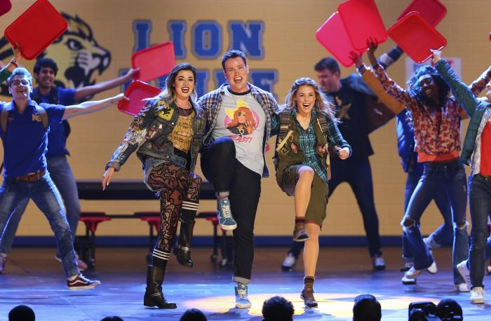 "The cast of ""Mean Girls"" performs at the 72nd annual Tony Awards on June 10, 2018, in New York"