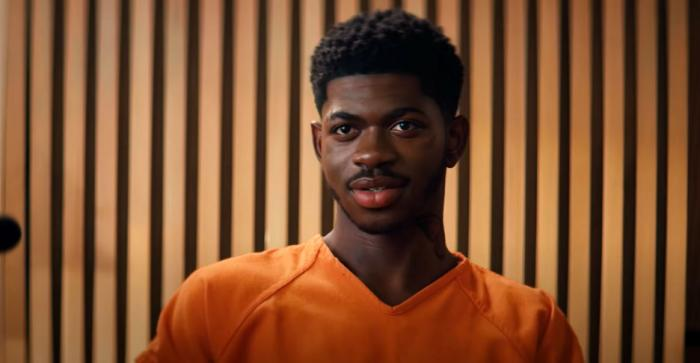 """Lil Nas X in the teaser video for his upcoming """"Industry Baby"""""""