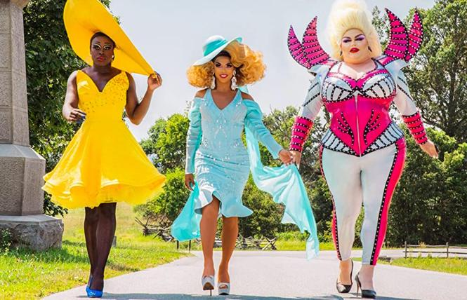 Bob the Drag Queen, Shangela and Eureka in 'We're Here'